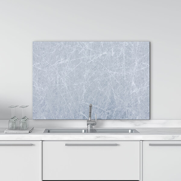 paraschizzi in alluminio panel - grey marble