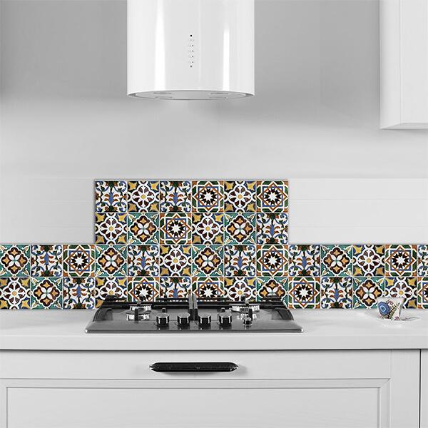 paraschizzi in alluminio abbinato - green tiles