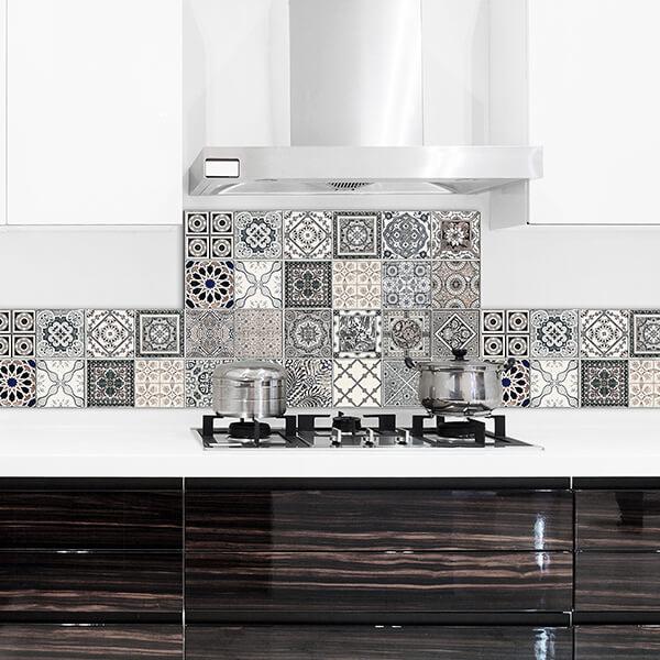 paraschizzi in alluminio abbinato - grey azulejos