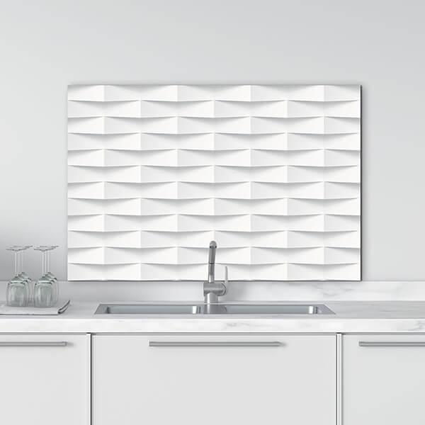paraschizzi in alluminio panel - white 3D
