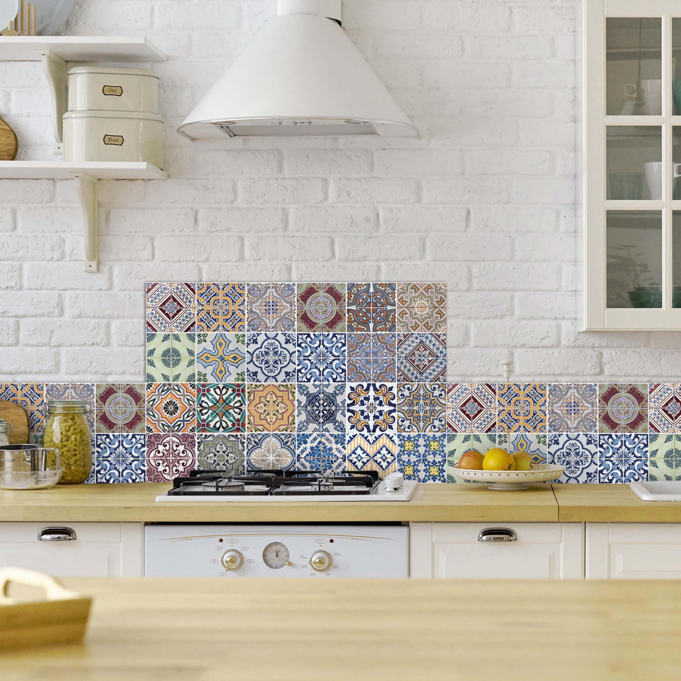 paraschizzi in alluminio abbinato - azulejos