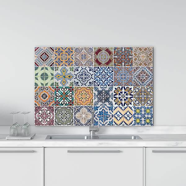 paraschizzi in alluminio panel - azulejos