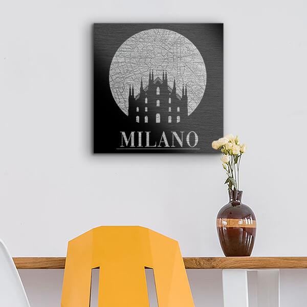 quadri in alluminio - Milano 29x29