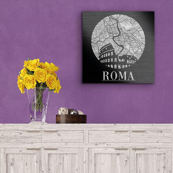 quadri in alluminio - Roma 29x29