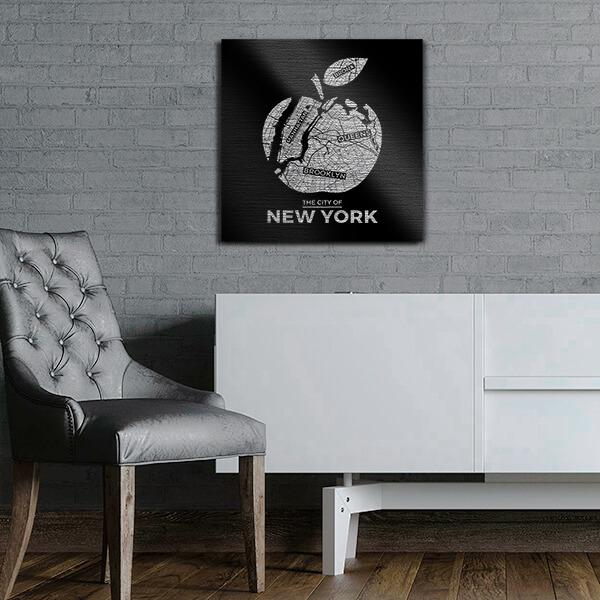 quadri in alluminio - New York 47x47