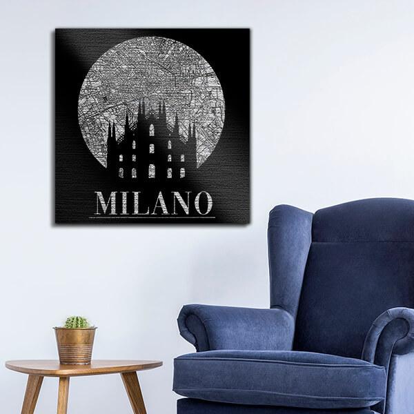 quadri in alluminio - Milano 47x47