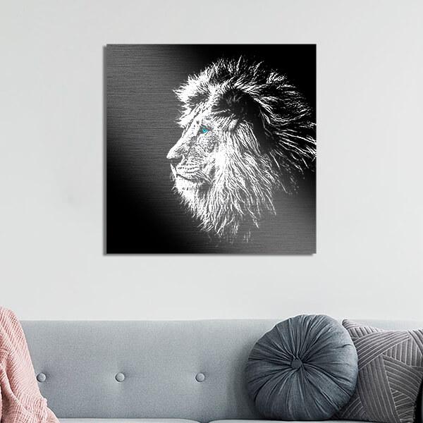 quadri in alluminio - Lion 47x47