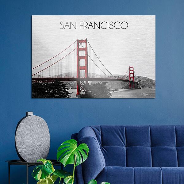 quadri in alluminio - San Francisco 48x72