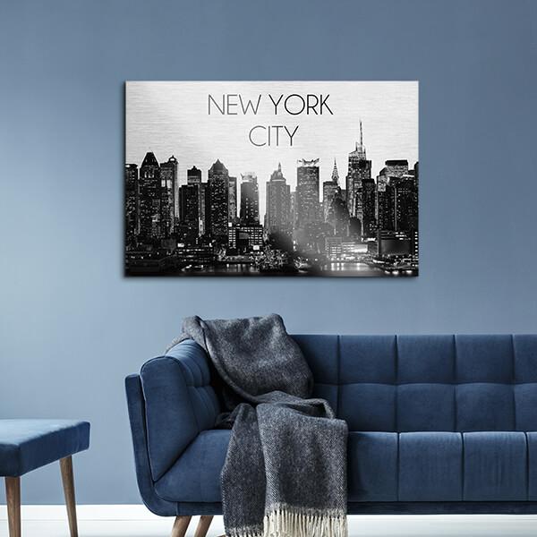 quadri in alluminio - New York City 48x72