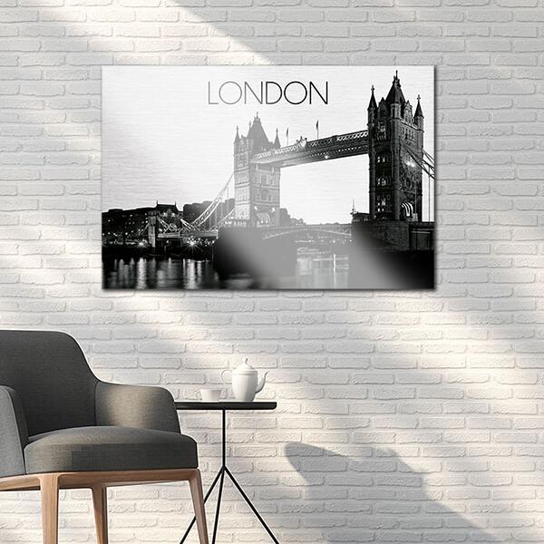 quadri in alluminio - London 48x72