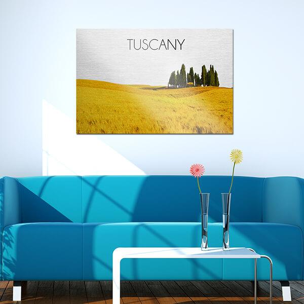 quadri in alluminio -Tuscany 48x72