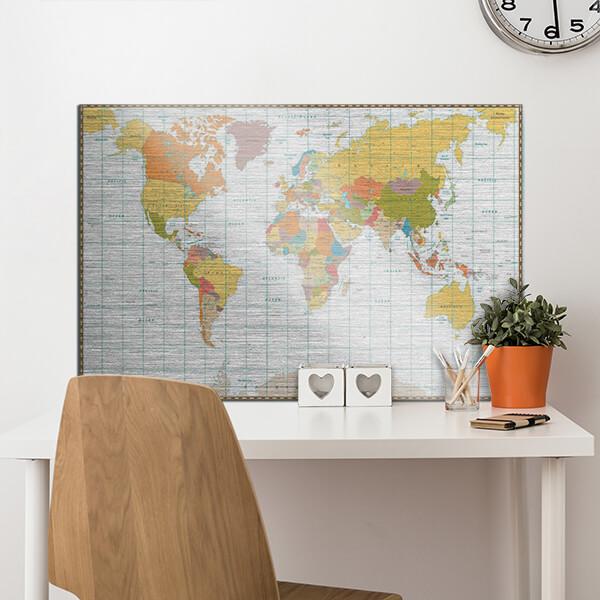 quadri in alluminio -Map 48x72