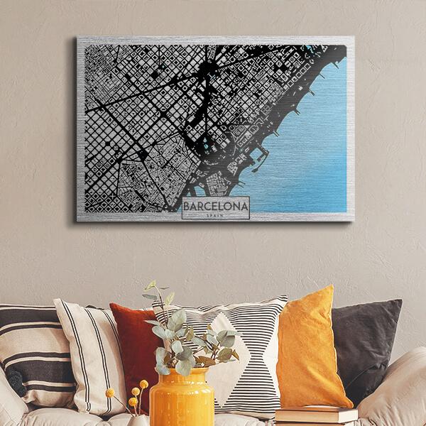 quadri in alluminio - Barcelona 48x72