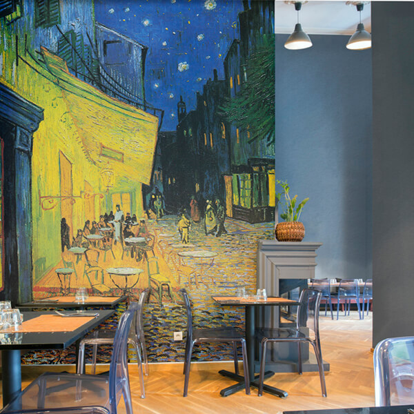 fotomurale - cafe de nuit