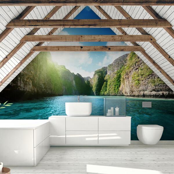 fotomurale - lago blu