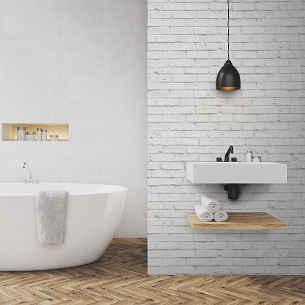 Rivestimenti per pavimenti - white bricks 1