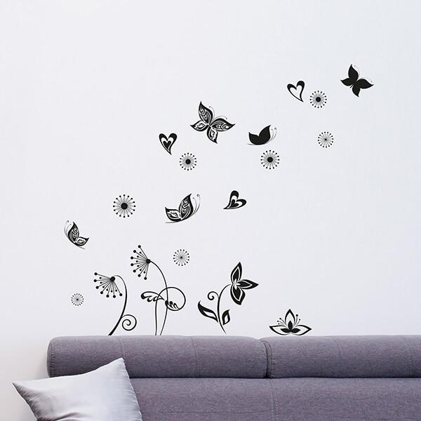 adesivi murali L - butterflies silhouette