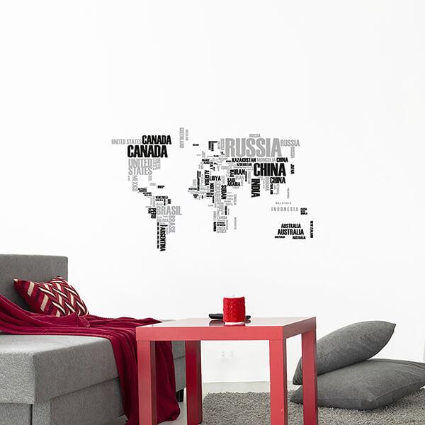 adesivi murali L - world map 3