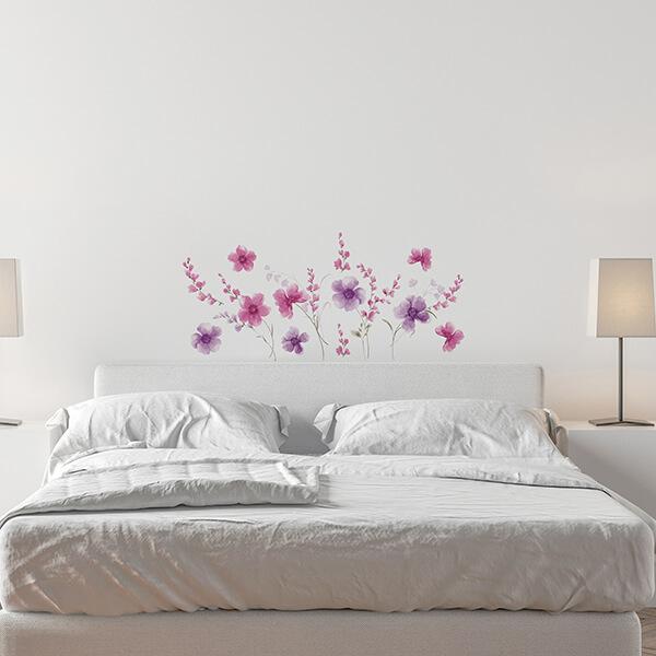 adesivi murali L - purple flowers