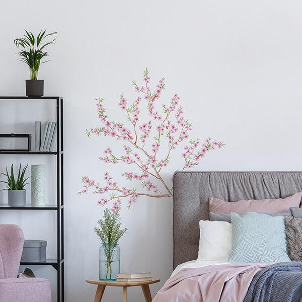 adesivi murali L - peach branch