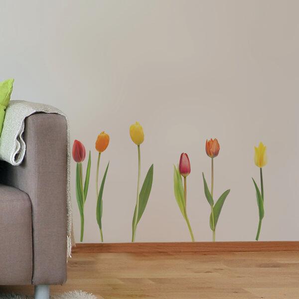 adesivi murali s - tulipani