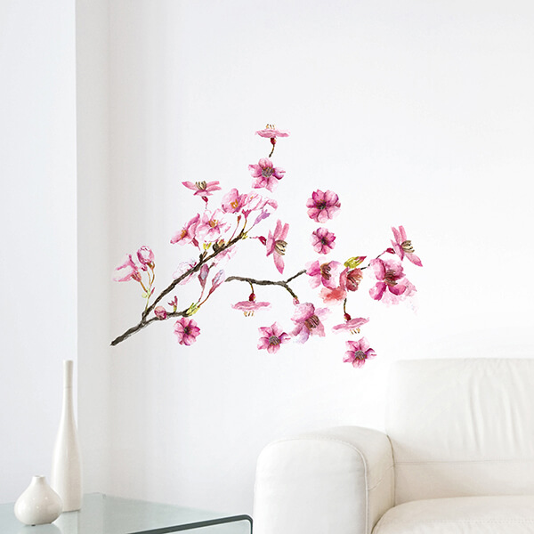 adesivi murali s - pink blossom