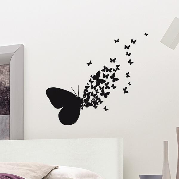 adesivi murali s - butterflies silhouettes 1
