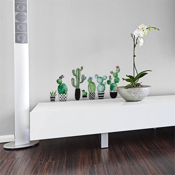 adesivi murali m - cactus 1