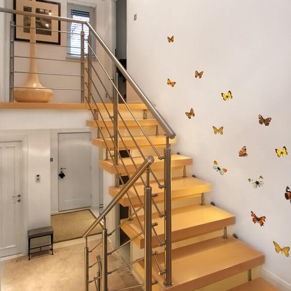 adesivi murali s - watercolour coffee - farfalle autunno 1