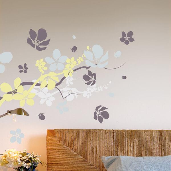 adesivi murali L - rami in fiore
