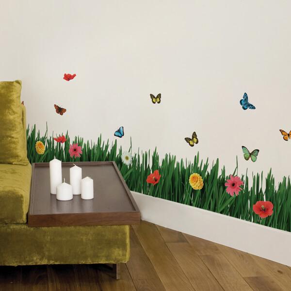 adesivi murali L - prato fiorito
