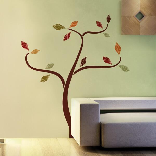 adesivi murali L - albero etnico