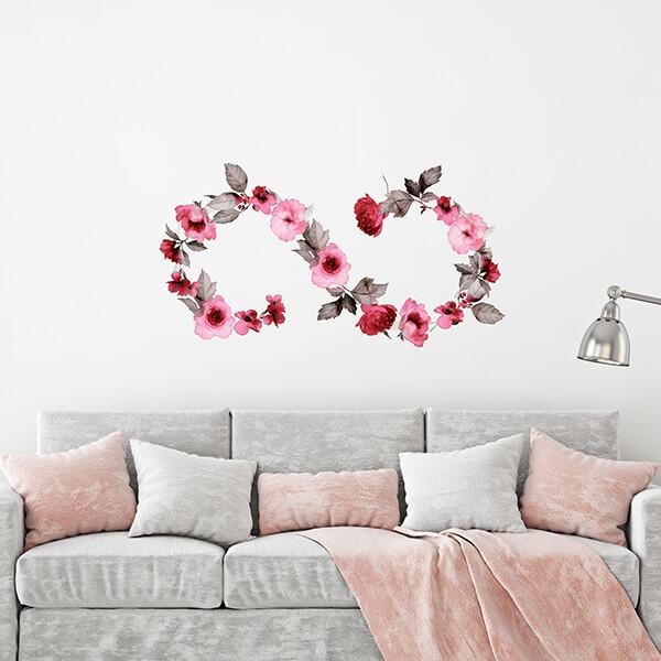 adesivi murali L - infinity flower