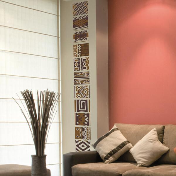 adesivi murali m - tribale