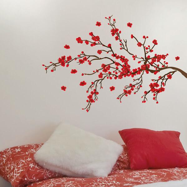 adesivi murali m - ramage rosso