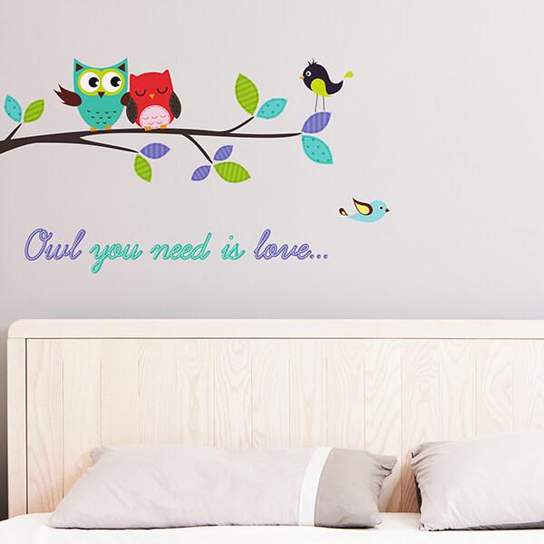 adesivi murali m - owl you need