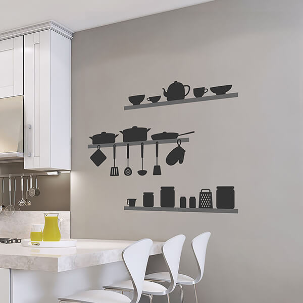 adesivi murali s - kitchen shadows