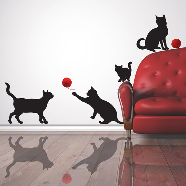 adesivi murali m - gattini2