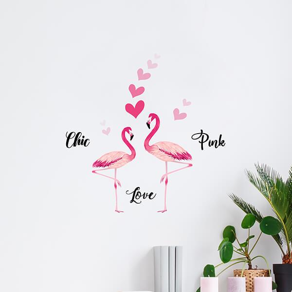 adesivi murali s - flamingos