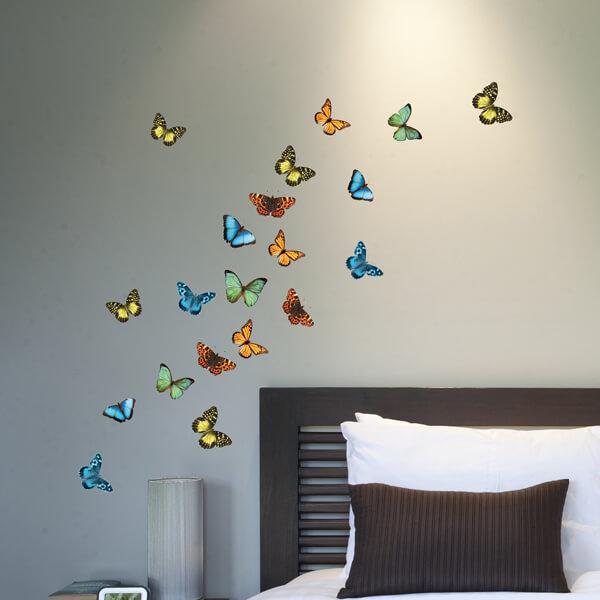 adesivi murali s - farfalle d'autunno