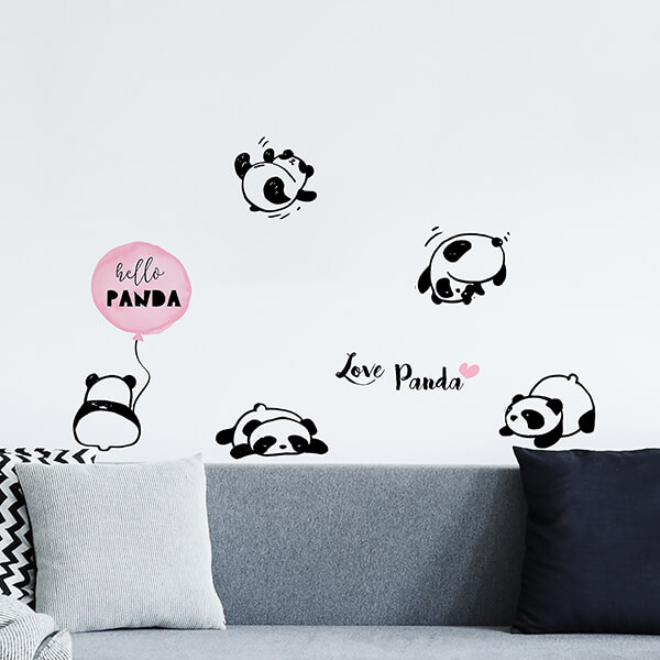 adesivi murali s - love panda