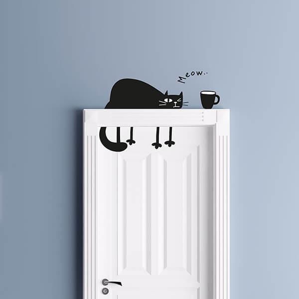 adesivi murali s - funny cat