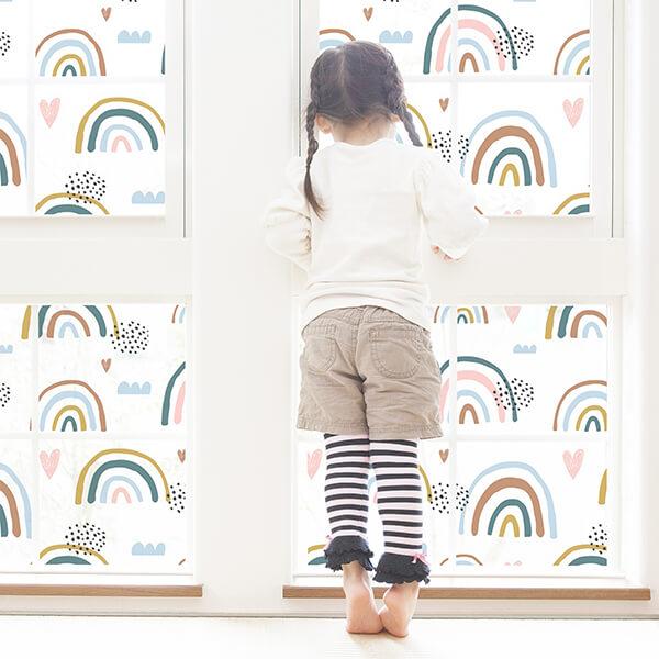 privacy film - rainbow