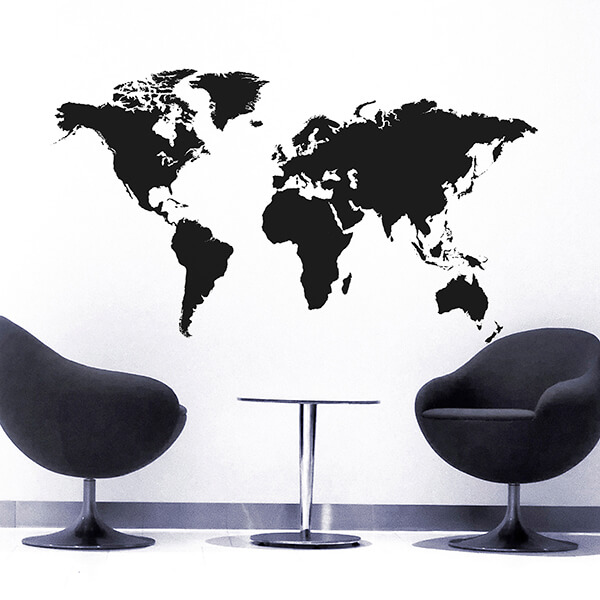adesivi murali L - world map