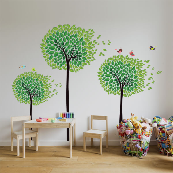 adesivi murali XL - graphic trees