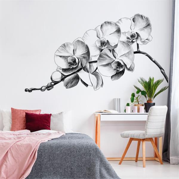 adesivi murali XL - bew flowers