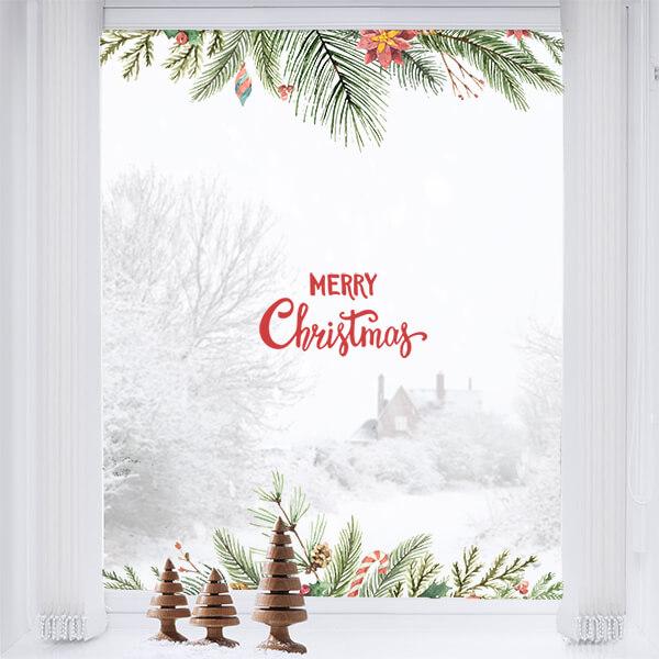adesivo vetri e muri - Merry Christmas