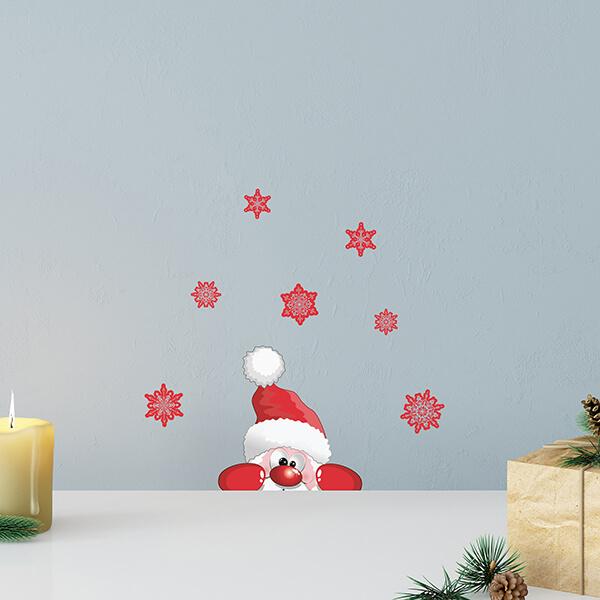adesivo - Santa Claus with snowflakes