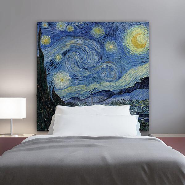 testiera letto singolo - Van Gogh - starry night
