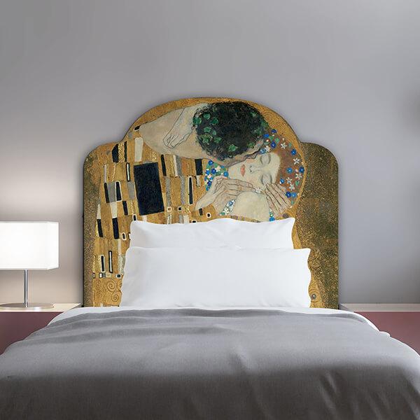 testiera letto singolo - Klimt - il bacio